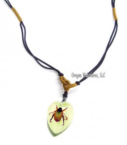 Small Shining Chafer Beetle Glow Necklace