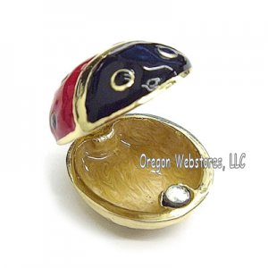 Mini Ladybug Enamel Jewel Box