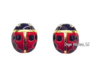 Big Ladybug Enamel Earrings