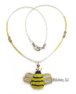 Beaded Bumblebee Necklace