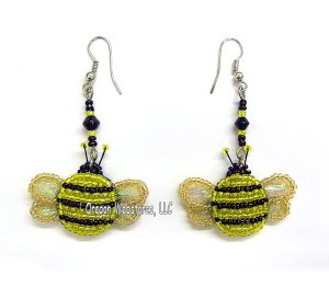 Beaded Bumblebee Earrings