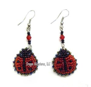 Beaded Ladybug Earrings