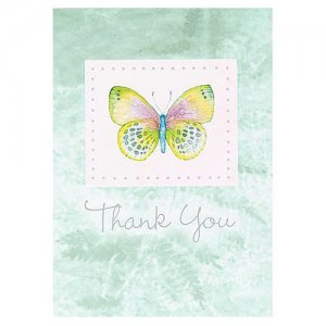 Butterfly Thank You Notes, pk/8