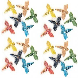 Colorful Dragonflies Glass Accents, pk/24