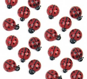 Red Ladybug Glass Accents