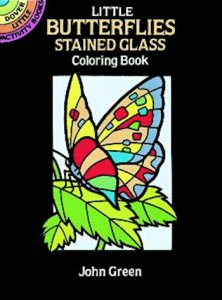Butterflies Stained Glass Coloring Book