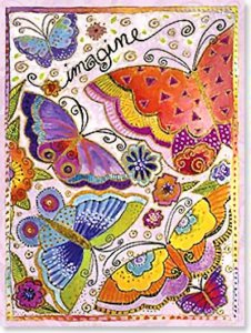 Imagine Butterfly Birthday Card