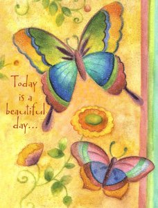 Butterfly Celebrate Petite Birthday Card
