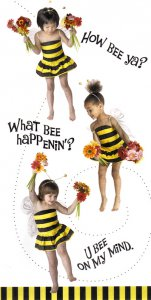 """What's the Latest Buzz?"" Bee Greeting Card"