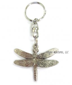 Pewter Dragonfly Keychain