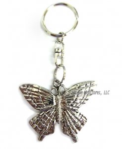 Pewter Butterfly Keychain