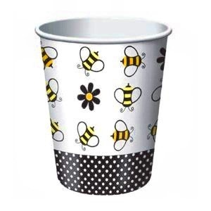 Buzzy Bumblebee Party Cups, pk/8