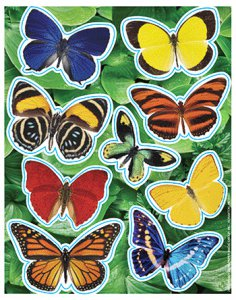 Realistic Glitter Butterfly Stickers (36)