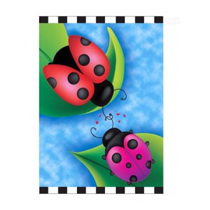 Sweet Rendezvous Ladybugs Garden Flag