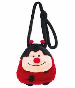 Plush Ladybug Shoulder Strap Purse