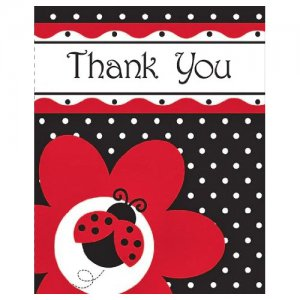 Ladybug Fancy Thank-you Notes