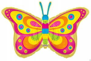 Giant Bright-Colored Butterfly Balloon
