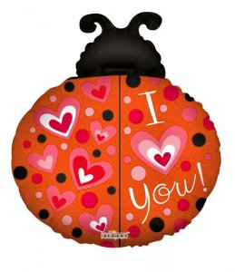"Large ""I Love You"" Lady Bug Balloon"