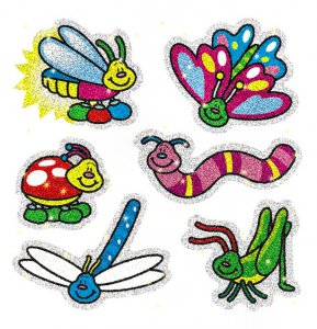 Dazzle Bugs Stickers (90)