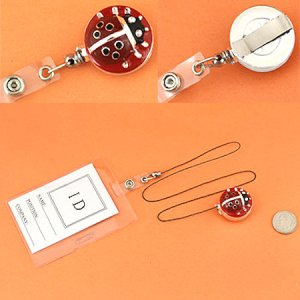 Ladybug ID Holder with Extending Cord