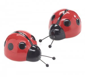 Details about  /Lady Bug Happy Face Salt and Pepper Shakers