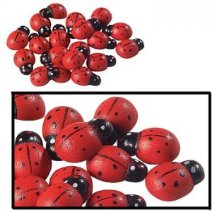 Adhesive Wooden Craft Ladybugs (pk/50)
