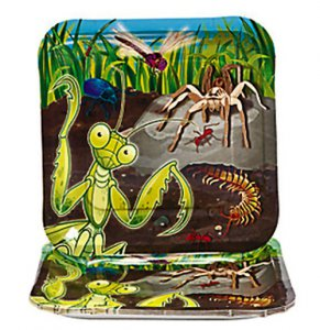 Garden Bug Party Large Plates, pk/8