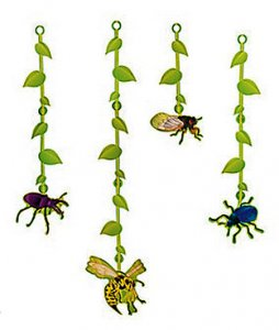 Garden Bug Hanging Decorations (4 bugs)