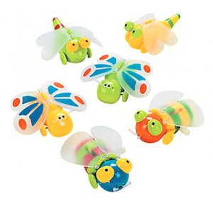 Wind-Up Winged Bugs, pk/6