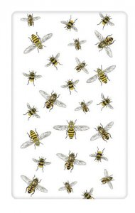 Scattered Bees Flour Sack Kitchen Towel