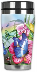Mugzie Butterfly Travel Mug