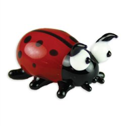 Mika the LadyBug Mini Glass Sculpture